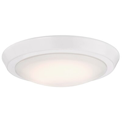 Ostrander 1-Light LED Flush Mount Fixture Finish: White