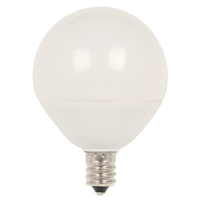 60W Equivalent E12/Candelabra LED Globe Light Bulb