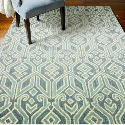 Humboldt Hand-Woven Wool Teal Area Rug Rug Size: Rectangle 7 x 9