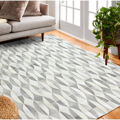 Costanza Hand-Woven Gray Area Rug Rug Size: Rectangle 9 x 12