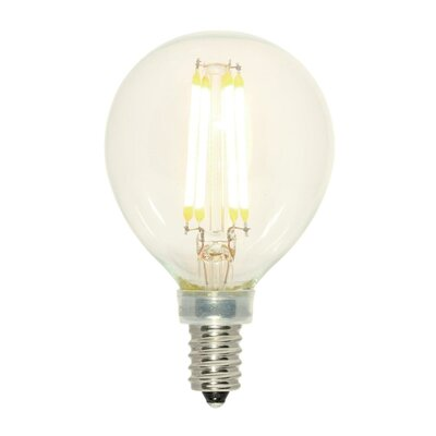 60W Equivalent E12/Candelabra LED Globe Light Bulb