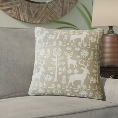 Venito Modern Animal Print Cotton Throw Pillow Color: Driftwood