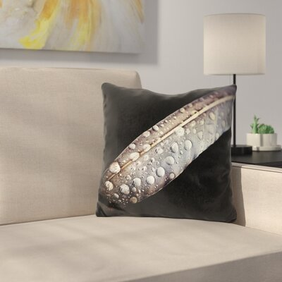 Feather Dew Throw Pillow