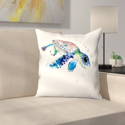 Suren Nersisyan Baby Sea Turtles 1 Throw Pillow Size: 16 x 16