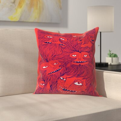 Joe Van Wetering Hairwolves Throw Pillow Size: 16 x 16
