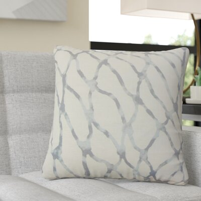 Ritter Graphic Linen Throw Pillow Color: Blue