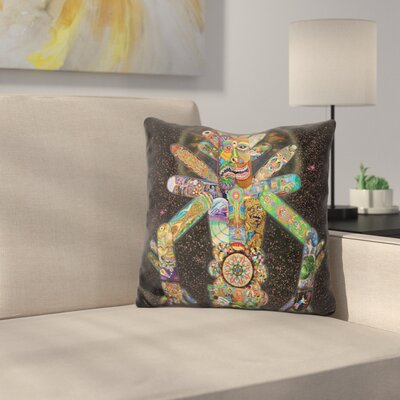 Skatebotron the Giant Robot Throw Pillow