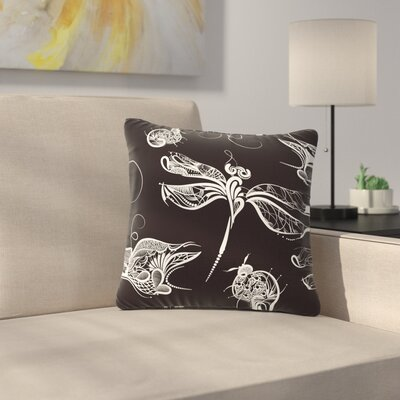 Maria Bazarova Insects Animals Outdoor Throw Pillow Size: 16 H x 16 W x 5 D