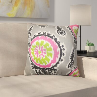 Rueter Ikat Cotton Throw Pillow Color: Gray