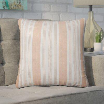 Wallin Striped Cotton Throw Pillow Color: Orange