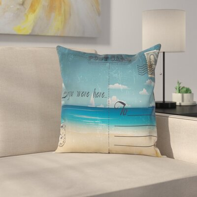 Postcard Pillow Cover Size: 16 x 16