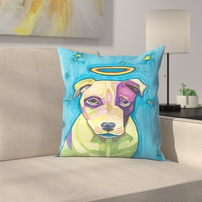 Halo Dog Pete Throw Pillow Size: 14 x 14