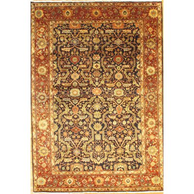 Genuine Farahan Hand-Knotted Wool Brown Area Rug