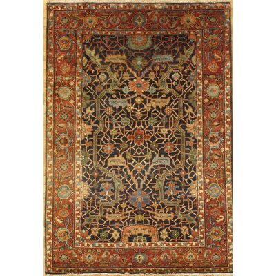 Serapi Hand-Knotted Wool Brown Area Rug Rug Size: Rectangle 4 x 510