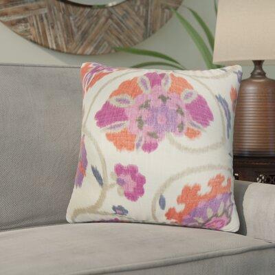 Willem Floral Cotton Throw Pillow Color: Purple