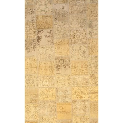 Genuine Turkish Hand-Knotted Wool Beige Area Rug