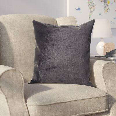Ora Faux Pillow Cover Color: Black
