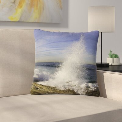 Nick Nareshni Hut with Crashing Wave Outdoor Throw Pillow Size: 18 H x 18 W x 5 D