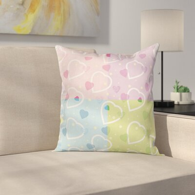 Hearts Graphic Pillow Cover Size: 24 x 24