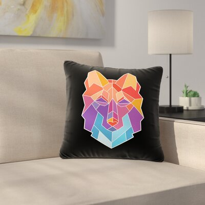 Draper Prism Wolf Outdoor Throw Pillow Size: 16 H x 16 W x 5 D