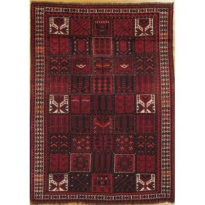 Baluch Hand-Knotted Wool Red Area Rug