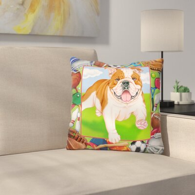 Sports Bulldog Throw Pillow