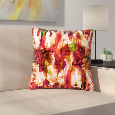 Ebi Emporium Noise Outdoor Throw Pillow Size: 18 H x 18 W x 5 D, Color: Maroon/Green