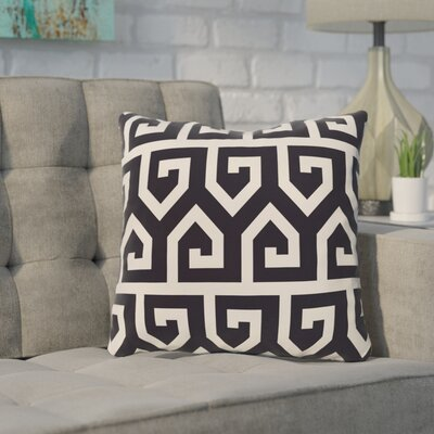 Nikanor Geometric Outdoor Throw Pillow Color: Blue