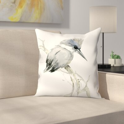 Suren Nersisyan Belted Kingfisher 2 Throw Pillow Size: 16 x 16