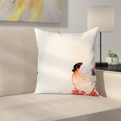 Christmas Themed Nature Square Pillow Cover Size: 18 x 18