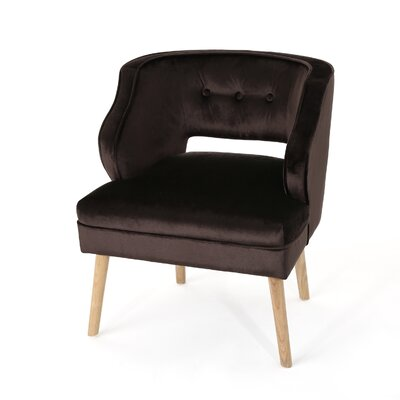 Heilig Mid Century Armchair Upholstery: Chocolate