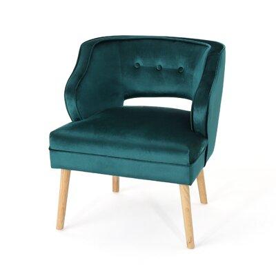 Heilig Mid Century Armchair Upholstery: Teal
