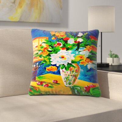Sunshine Taylor Happy Go Lucky Indoor/Outdoor Throw Pillow Size: 14 x 14