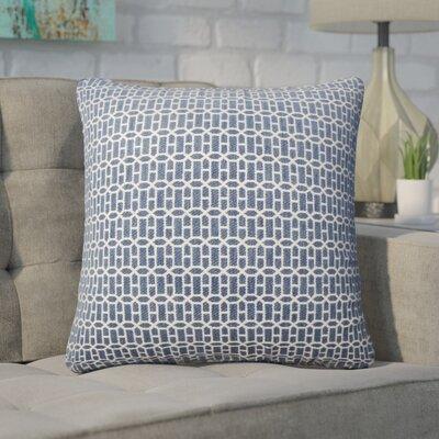 Wychwood Geometric Throw Pillow Color: Lapis