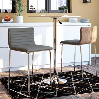 Yvette 26 Bar Stool Upholstery: Gray