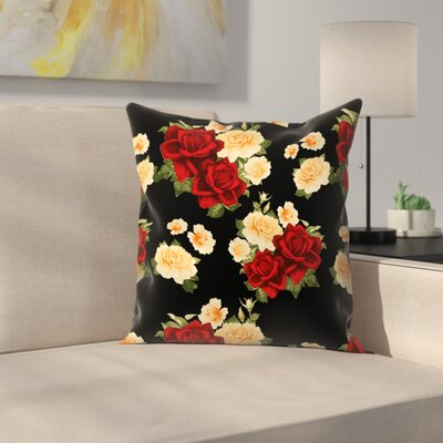 Rose Throw Pillow Size: 16 x 16