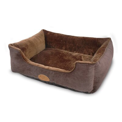 Modern Luxe Faux Suede Pet Cuddler Bolster Color: Brown