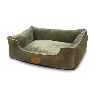 Modern Luxe Faux Suede Pet Cuddler Bolster Color: Olive