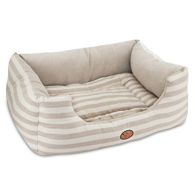 Striped Reversible Cozy Pet Cuddler Bolster Size: Extra Large - 35 W x 28 D x 12 H