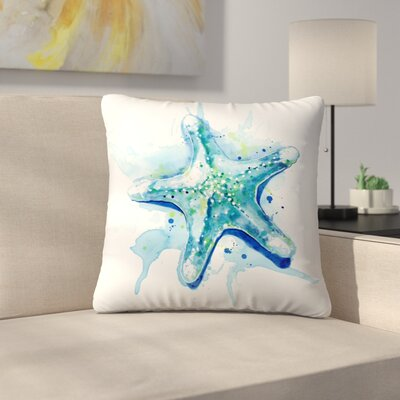 Starfish Waters Throw Pillow Size: 14 x 14