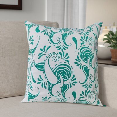 Klassen Indoor/Outdoor 100% Cotton Pillow Cover Color: White/Teal