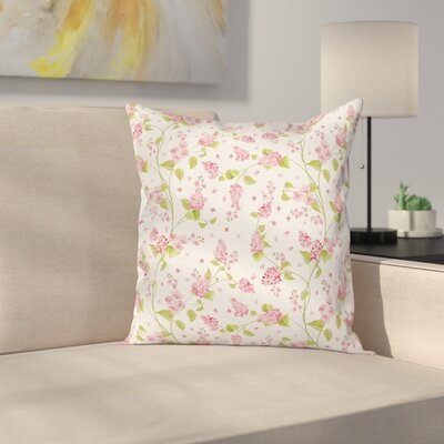 Blossom Buds Cushion Pillow Cover Size: 24 x 24