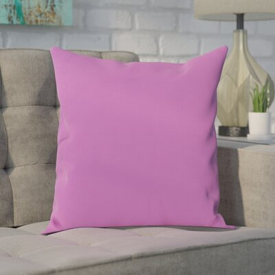 Polyester Throw Pillow Size: 18 H x 18 W, Color: Radiant Orchid