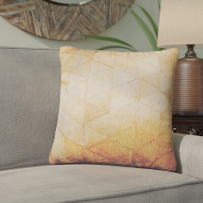 Graham Mosaik Leather Throw Pillow Color: Tan