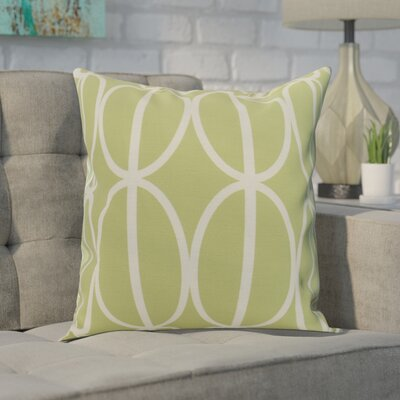 Crosswhite Ovals Go Round Geometric Print Indoor/Outdoor Throw Pillow Color: Green, Size: 16 x 16