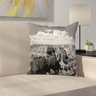 Nostalgic Grand Canyon Square Pillow Cover Size: 24 x 24