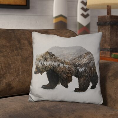 Olmstead the Kodiak Brown Bear Throw Pillow