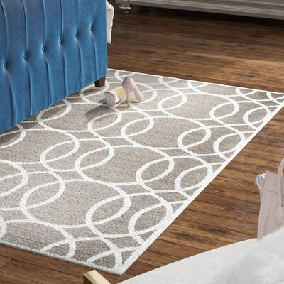 Fabian Hand Tufted Wool Light Gray Area Rug Rug Size: Rectangle 5 x 8