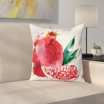Fruit Hand Drawn Water Cushion Pillow Cover Size: 18 x 18
