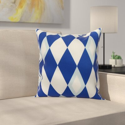 Meehan Geometric Print Indoor/Outdoor Throw Pillow Color: Royal Blue, Size: 20 x 20